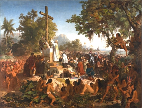 "The Portuguese made their presence felt by ""persuading"" indigenous people to Christianity"